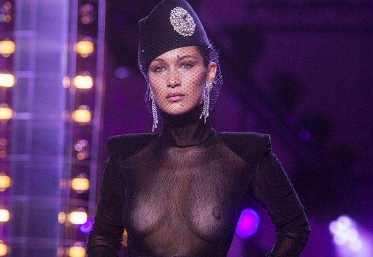 Модель в прозрачной одежде это сексуально
