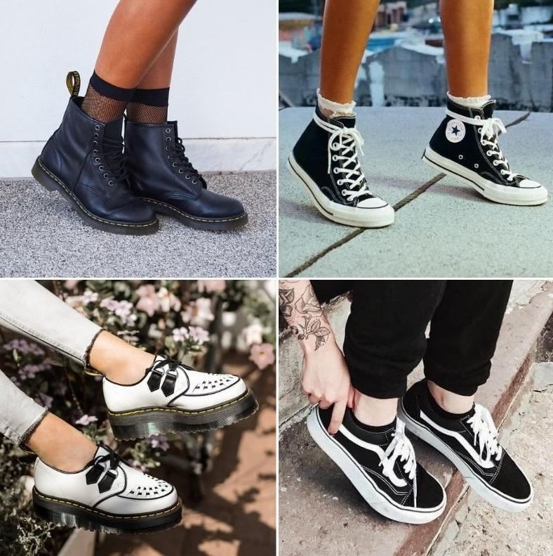 Обувь в стиле Гранж