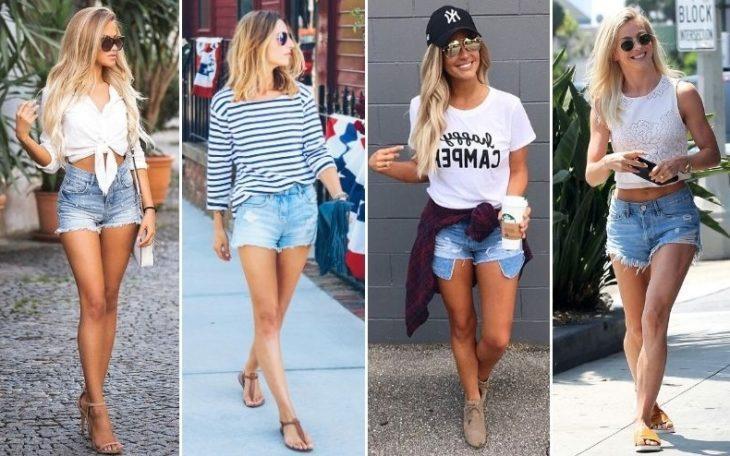 Короткие джинсовые шорты отличный выбор в жаркую погоду