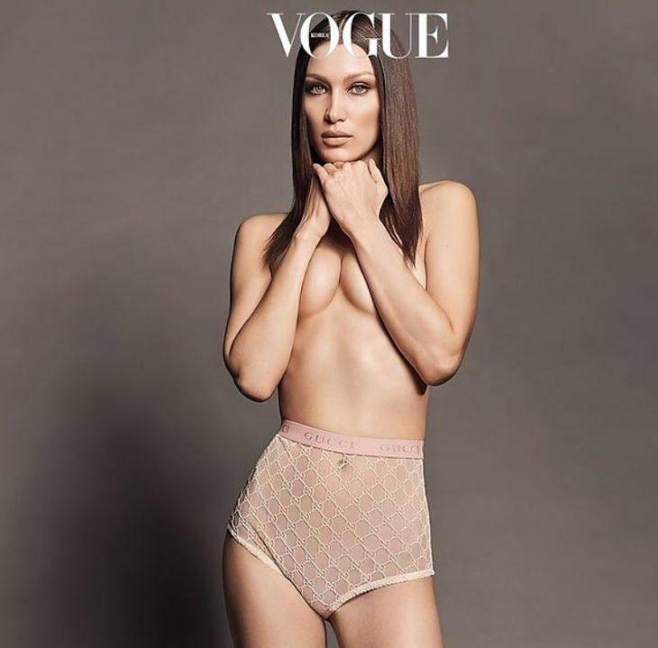 foto Belly Hadid dlya zhurnala vogue Koreya 1 Горячие фото Bella Hadid, Самые красивые девушки мира, Самые сексуальные модели 273