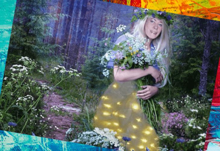 Лина слизаускене в лесу