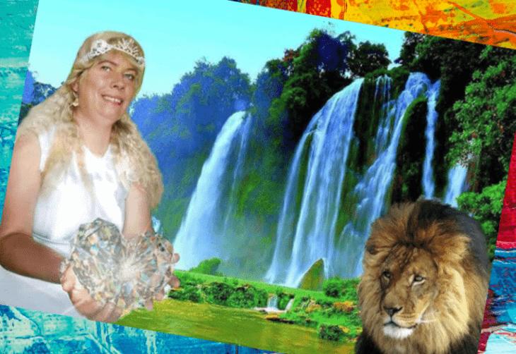 Дама у водопада