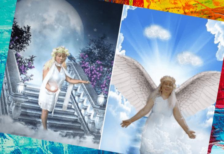 Женщина с крыльями ангела