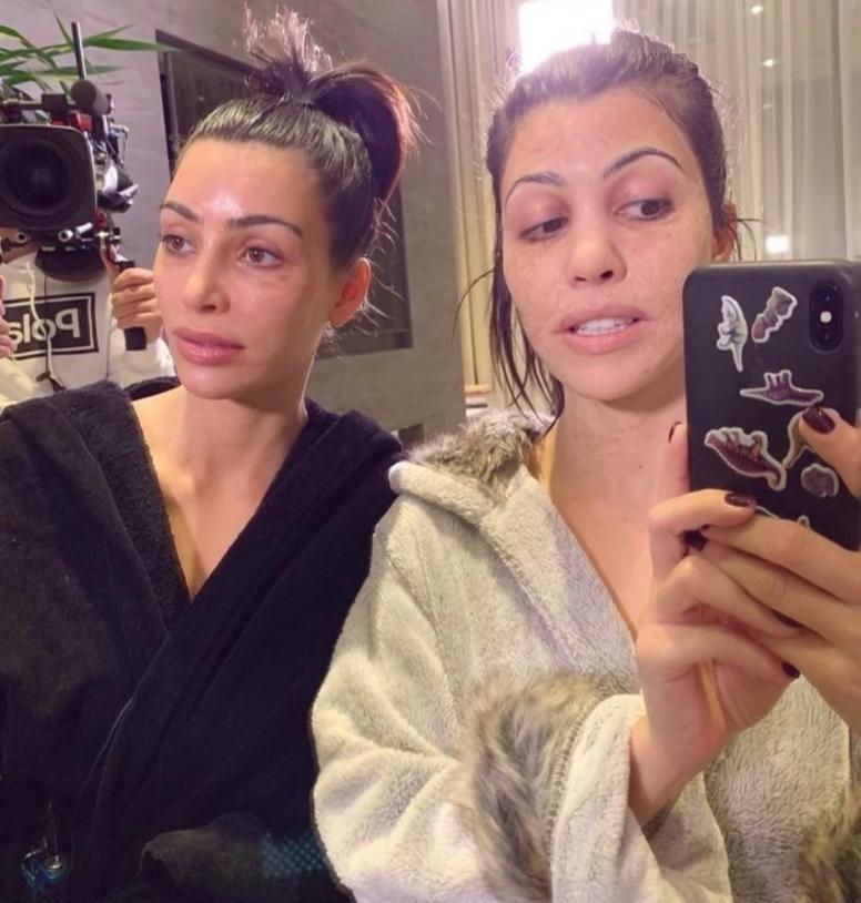 Ким кардашьян без макияжа... Совсем (фото)
