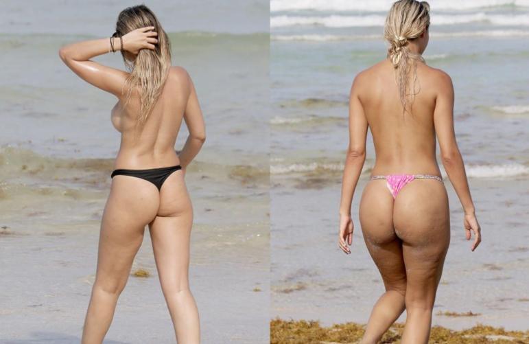 Красотки топлес на пляже (5)