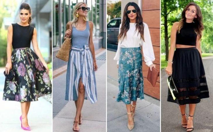 Свободные юбки-миди — отличный выбор для летнего гардероба