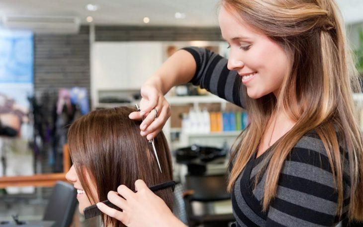Окрашивание волос в салоне 1