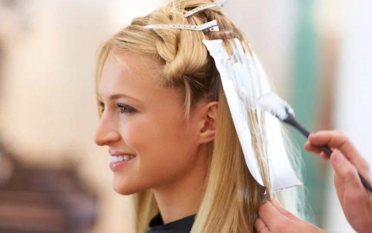 Окрашивание волос в салоне 2