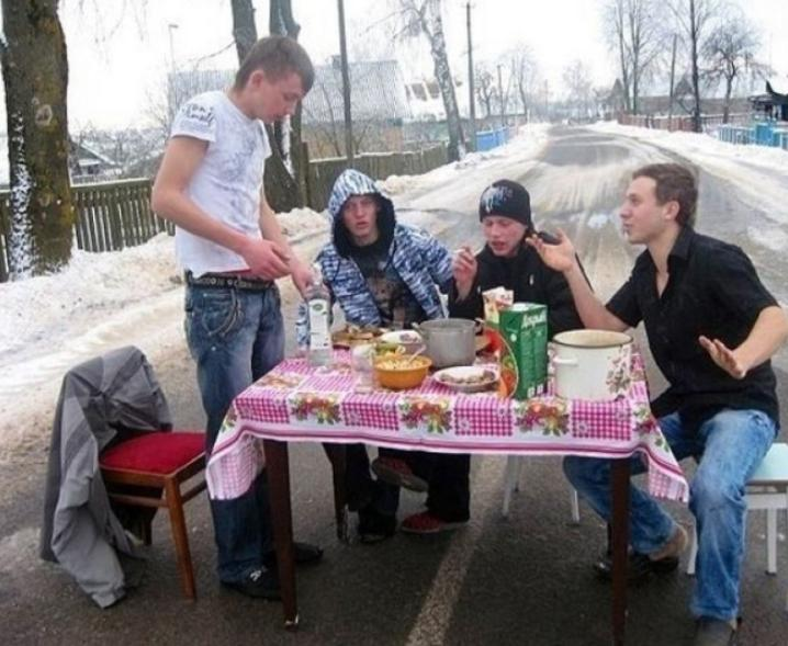 Русские действительно умеют веселиться: подборка забавных фото
