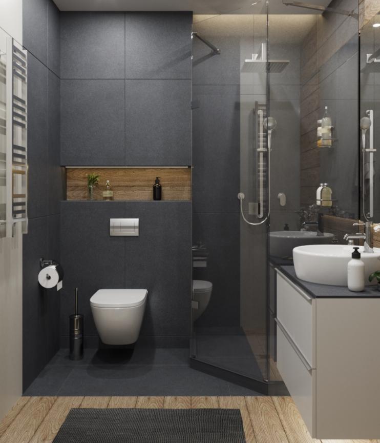 Применение зеркальных поверхностей в ванной