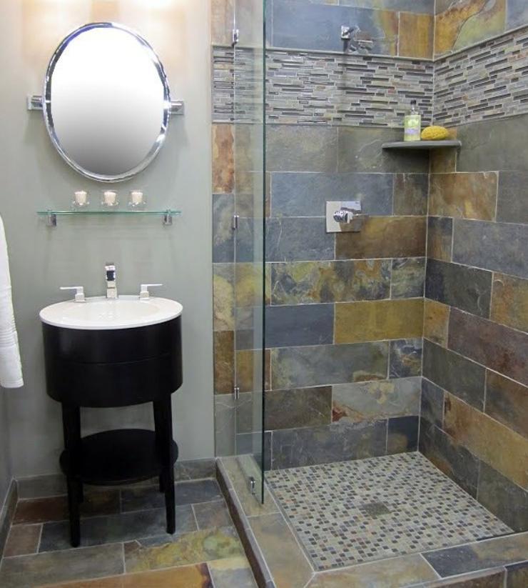 угловая душевая в маленькой ванной