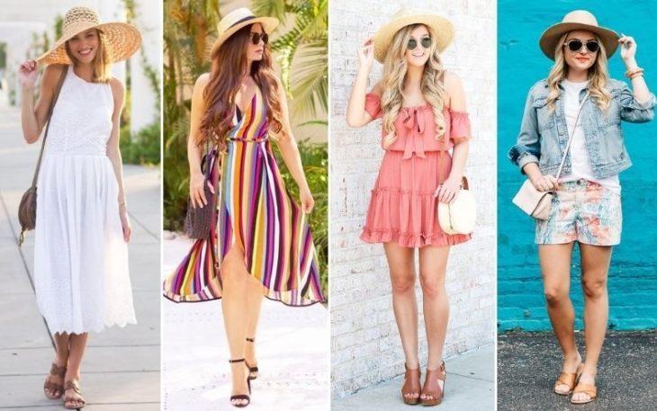 Соломенная шляпа классный элемент одежды на лето