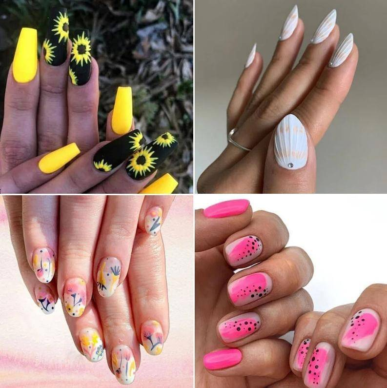 summer nail ideas Красота Варианты маникюра 69