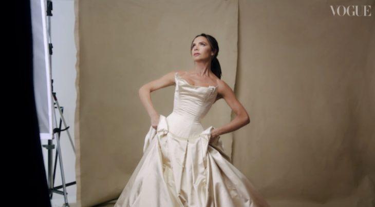 Виктория Бекхэм в платье от Vera Wang